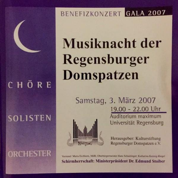 Musiknacht der Regensburger Domspatzen- Livemitschnitt